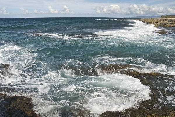 Kaena Photograph - Waves Breaking On Shore  7918 by Michael Peychich