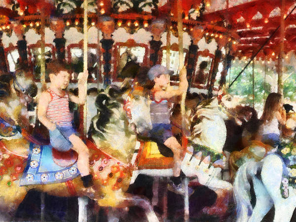 Photograph - Waving Hi From The Merry-go-round by Susan Savad