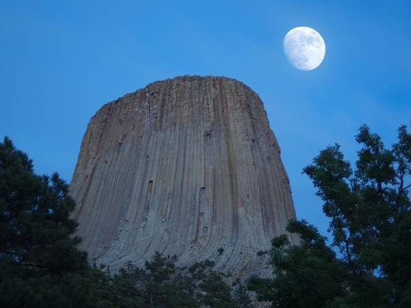 Photograph - Waxing Moon Over Bear Lodge by HW Kateley