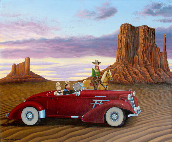 Painting - Way Out West by Tracy Dennison