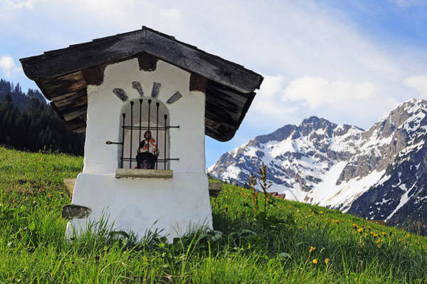 Photograph - Wayside Shrine In The Mountains by Matthias Hauser