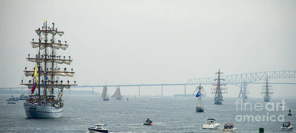 Photograph - We Say Goodbye As They Sail Out To The Bay by Mark Dodd