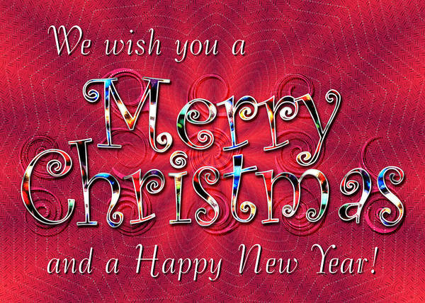 Digital Art - We Wish You A Merry Christmas by Susan Kinney
