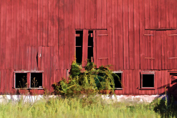 Photograph - Weathered Red Barn Of New Jersey by David Letts