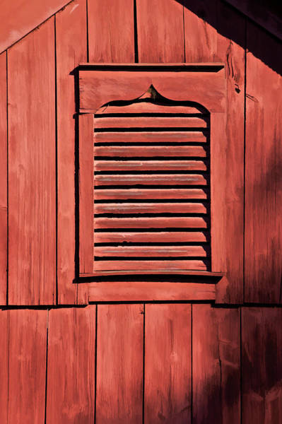 Photograph - Weathered Red Barn Shutter Of New Jersey by David Letts
