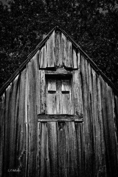 Photograph - Weathered Structure - Bw by Christopher Holmes