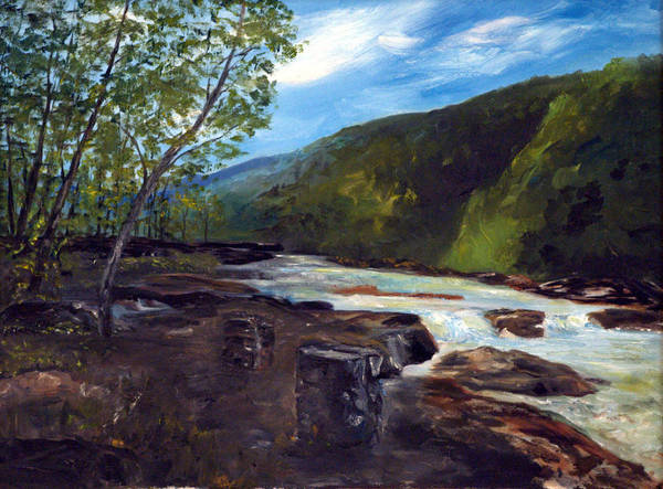 Painting - Webster Springs Stream by Phil Burton