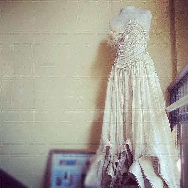 Handmade Wall Art - Photograph - #wedding #dress, If Only #men Could Be by Jenna Luehrsen