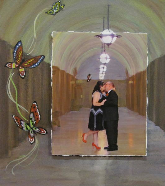 Mixed Media - Wedding Portrait by Anita Burgermeister