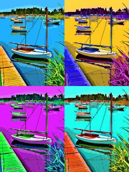 Rhode Island Digital Art - Weekapaug Sailboats by Stephen Younts
