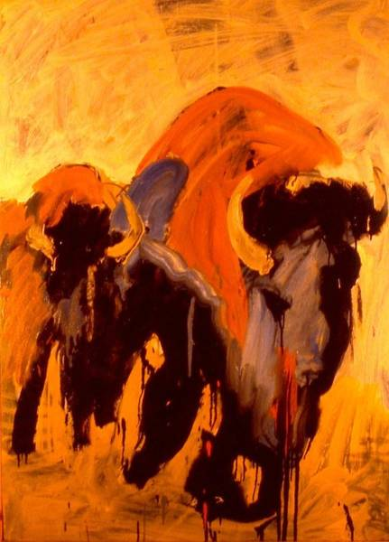 Painting - Weeping Buffalo by Les Leffingwell