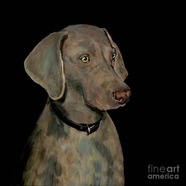 Weimaraner Painting - Weimaraner by Dale Moses