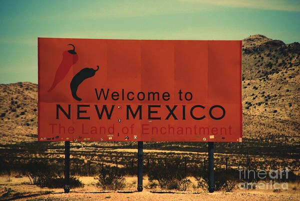Wall Art - Photograph - Welcome Sign To New Mexico by Susanne Van Hulst