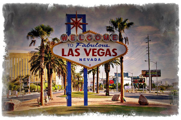Wall Art - Photograph - Welcome To Las Vegas Sign Series Impressions by Ricky Barnard