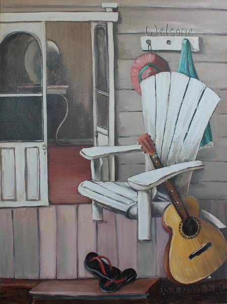Painting - Welcome To The Beach House by Kathy  Karas
