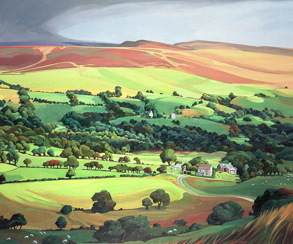 Hamlet Painting - Welsh Valley by Anna Teasdale