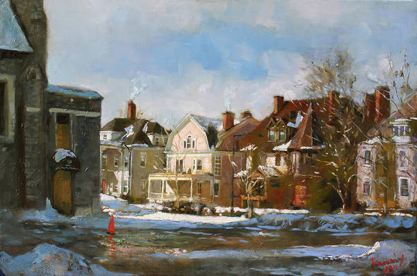 West Wall Art - Painting - West Ferry Street by Ylli Haruni