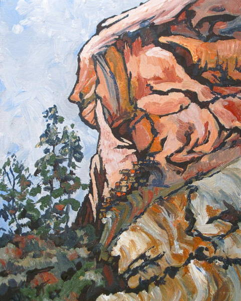 Oak Creek Canyon Painting - West Fork 2 by Sandy Tracey