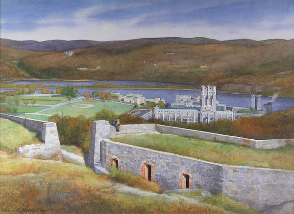 West Point Painting - West Point From Fort Putnam  by Glen Heberling