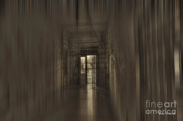 Photograph - West Virginia Penitentiary Hallway Out by Dan Friend