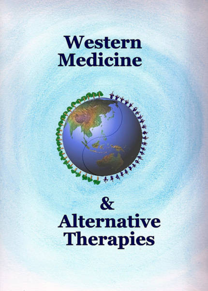 Painting - Western Medicine And Alternative Therapies by Ahonu