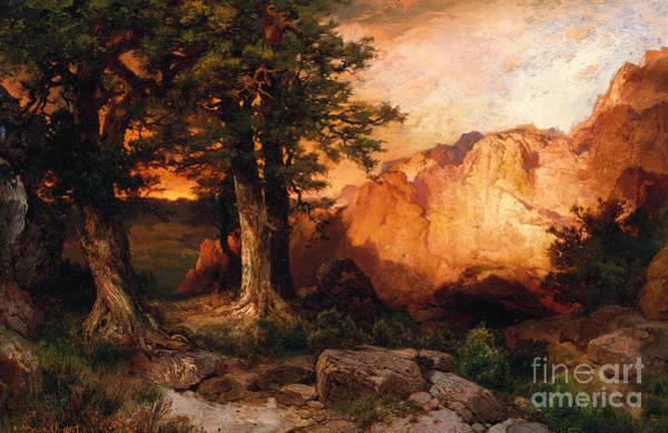 Moran Painting - Western Sunset by Thomas Moran