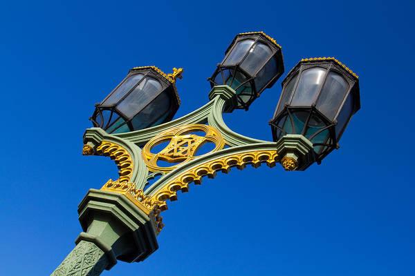 Wall Art - Photograph - Westminster Bridge Street Lamp by David Pyatt