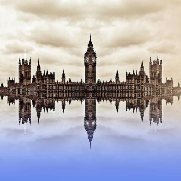 River Thames Digital Art - Westminster On Water by Sharon Lisa Clarke