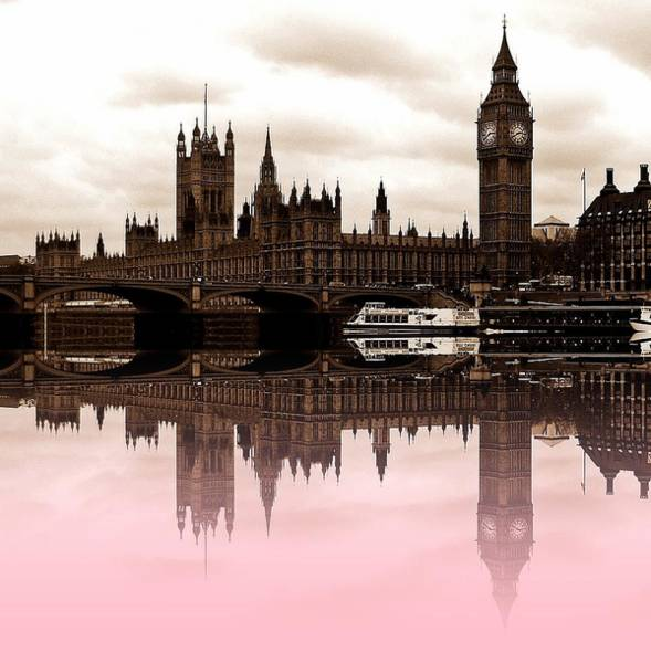 Wall Art - Photograph - Westminster Pink by Sharon Lisa Clarke