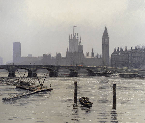 Houses Of Parliament Wall Art - Painting - Westminster by Tom Young