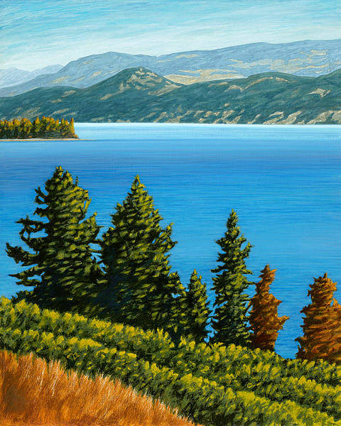 Okanagan Valley Painting - Westside View by Mal Gagnon