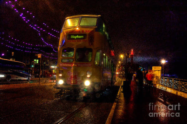 Wall Art - Photograph - Wet And Windy At Blackpool by Rob Hawkins