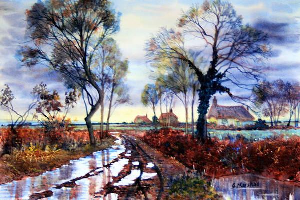Painting - Wet Roadside by Glenn Marshall