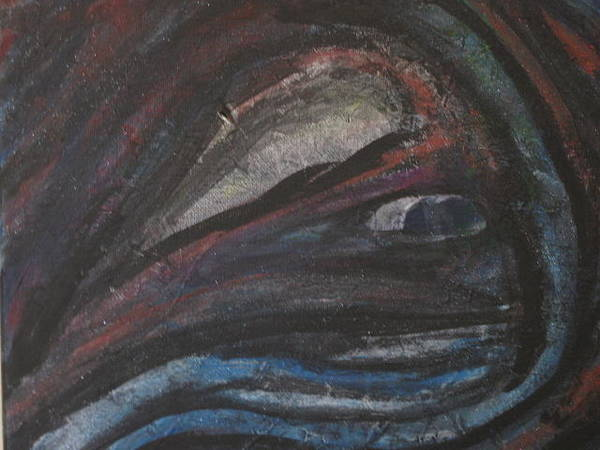 Benny Painting - Whales  Eye by Robert Benny