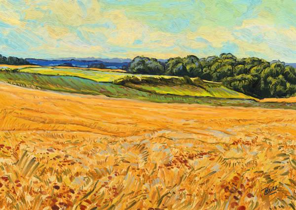 Wheat Field In Limburg Art Print