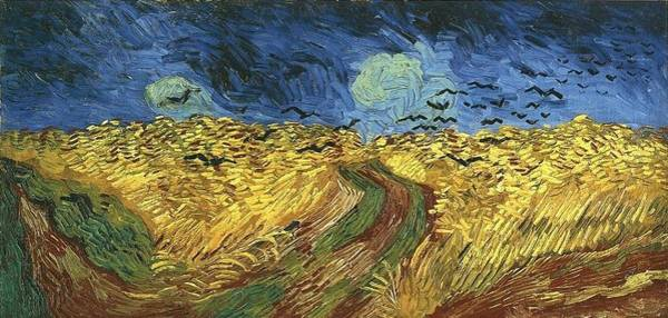 Superficial Digital Art - Wheat Field With Crows by Vincent Van Gogh