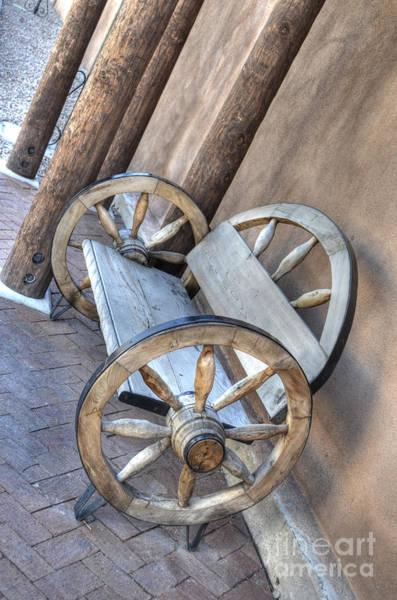 Photograph - Wheel Bench by Donna Greene