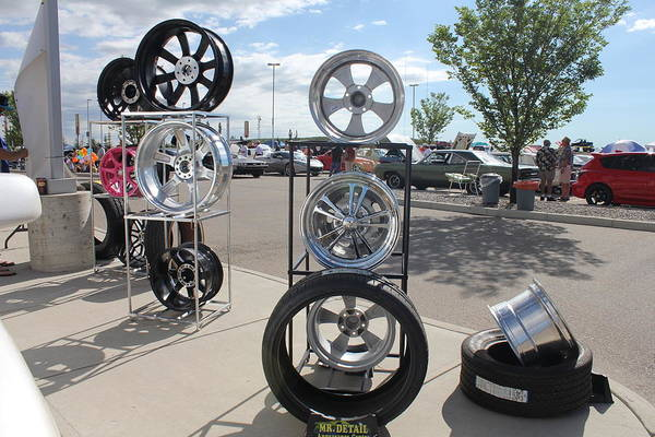 Photograph - Wheels And Rims by Donna L Munro