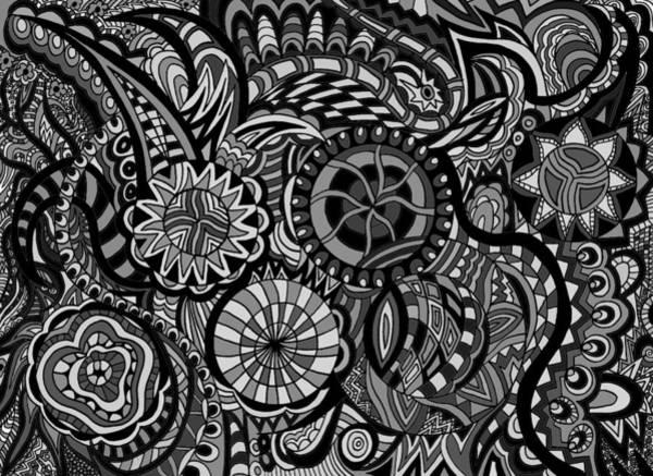 Wall Art - Drawing - Wheels In Motion by Karen Elzinga