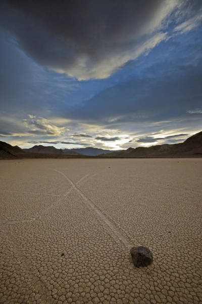 Racetrack Playa Photograph - When Silt On The Ground Is Wet, Wind by Michael Melford
