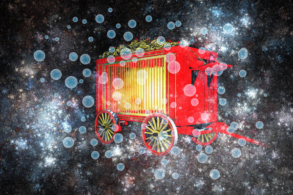 Wagon Digital Art - When The Circus Comes To Town by Carol and Mike Werner
