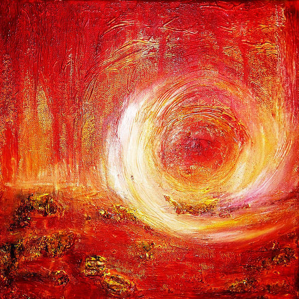 Wall Art - Painting - When The Sun Touches The Earth by LizTa Gallery