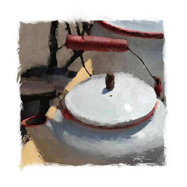 Lid Painting - When You  Reach The Boiling Point Have A Cup Of T by Bob Salo