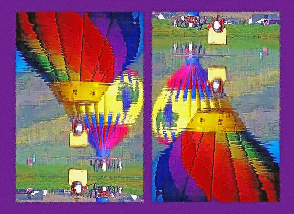 Fun Wall Art - Photograph - Which Way Up - Balloons In Reflection Diptych by Steve Ohlsen