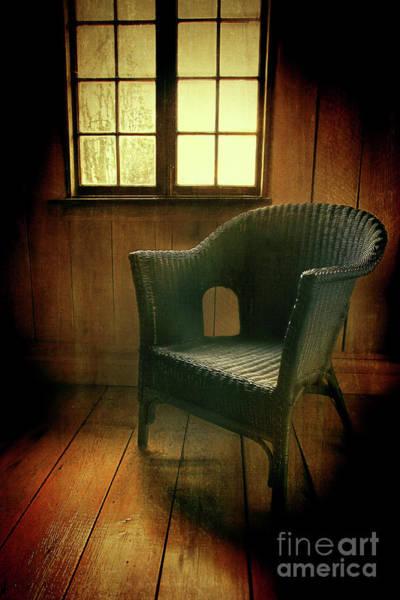 Photograph - Whicker Chair Near Window by Sandra Cunningham