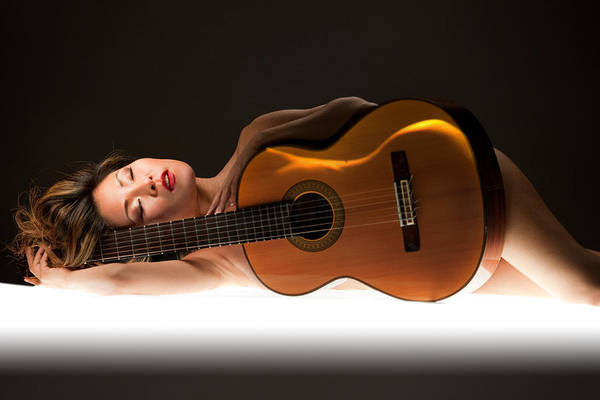 Wall Art - Photograph - While My Guitar Gently Sleeps by Dario Infini