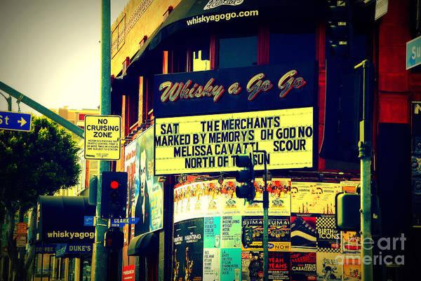Photograph - Whisky A Go Go Bar On Sunset Boulevard by Susanne Van Hulst
