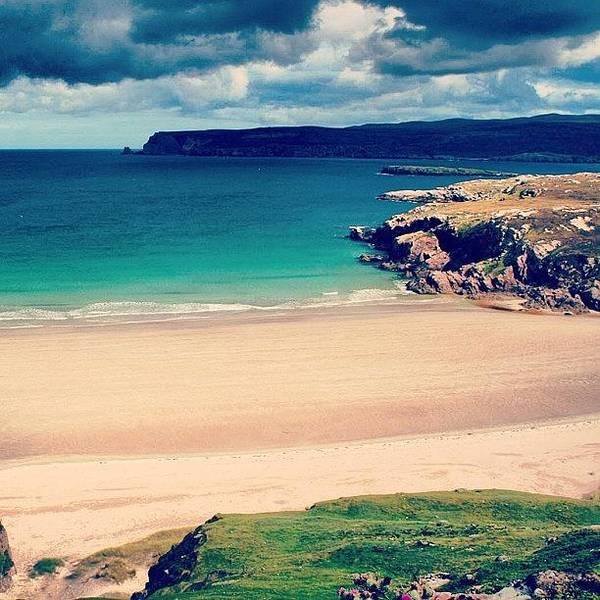 Sea Photograph - White Beach In Scotland by Luisa Azzolini