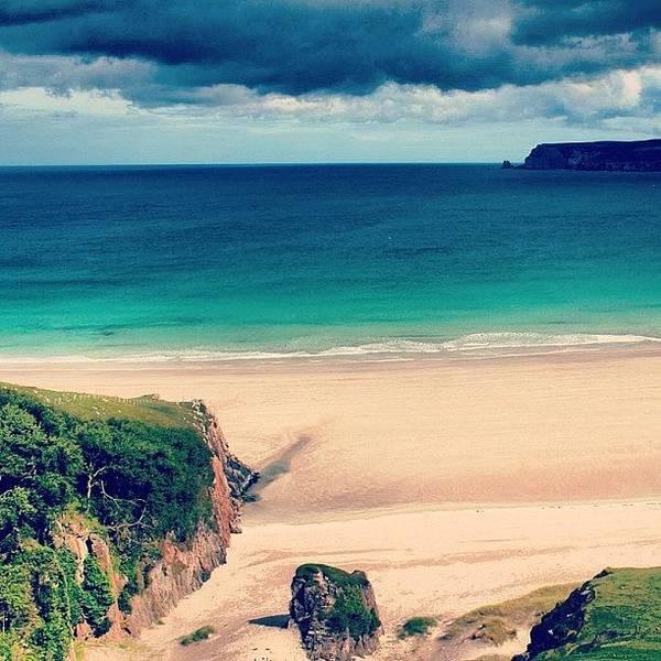 Sea Photograph - White Beach In Scotland2 by Luisa Azzolini