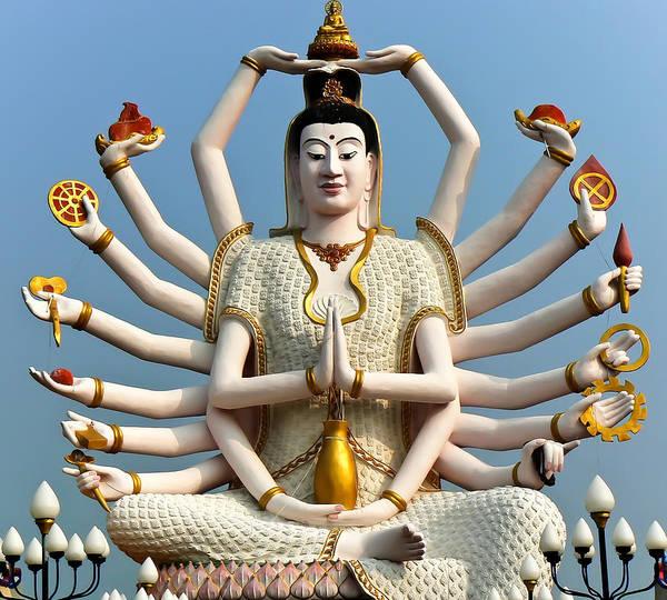 Photograph - White Buddha by Adrian Evans
